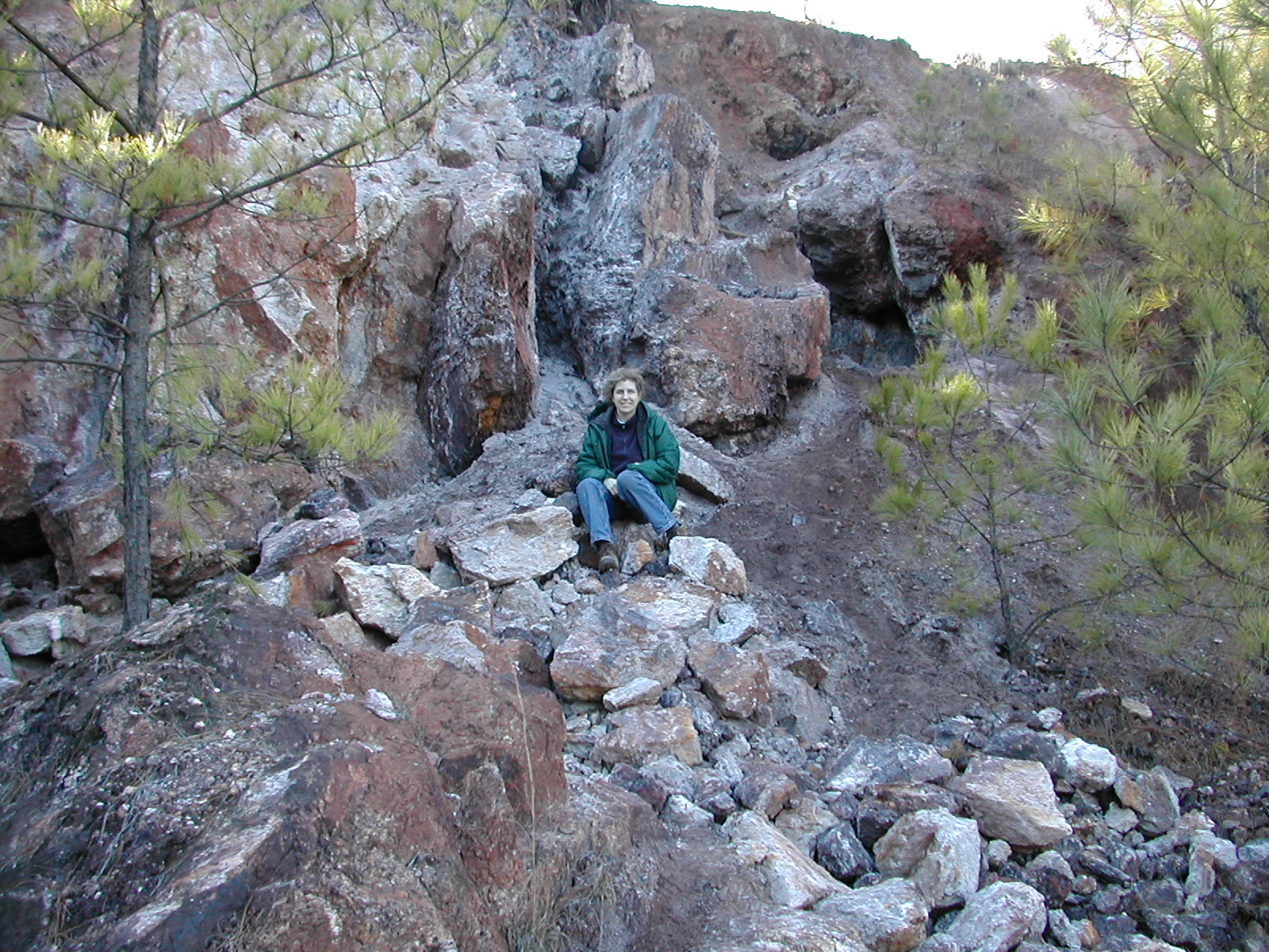 Betty on Graves Mountain, 12/14/2002