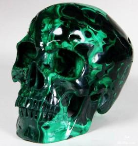 Malachite skull 1