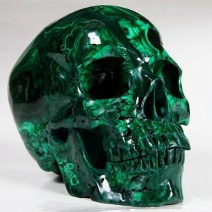 Malachite skull 2